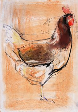 Stehende Henne von Mark Adlington