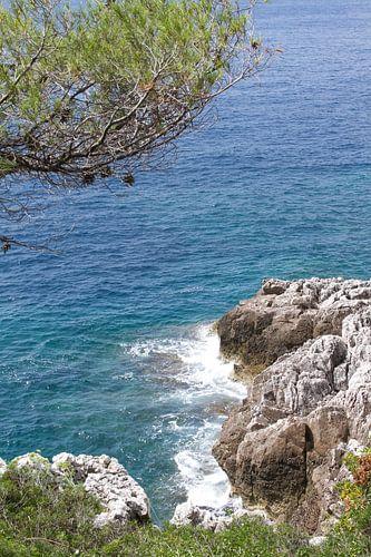 uitzicht op zee bij Roquebrune (tussen Menton en Monaco)