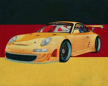 Porsche GT3 RS Cup 2008 voor de Duitse vlag van Jan Keteleer