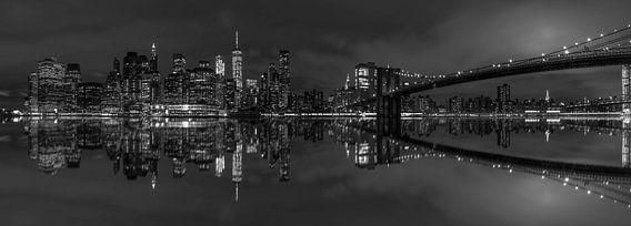 Panorama Brooklyn Bridge & Manhattan skyline
