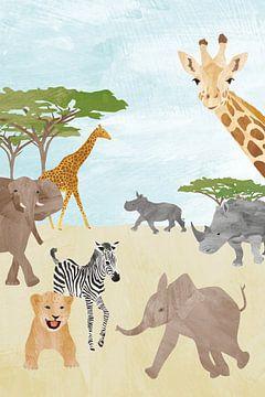 Wildtiere in Afrika von Karin van der Vegt