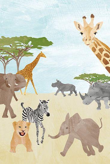 Wilde dieren in Afrika van Karin van der Vegt