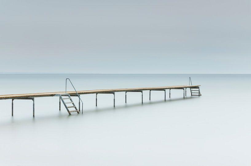 Jetée dans la mer (Middelfart - Danemark) sur Marcel Kerdijk