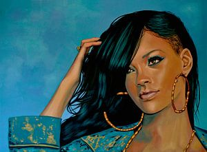 Rihanna Schilderij