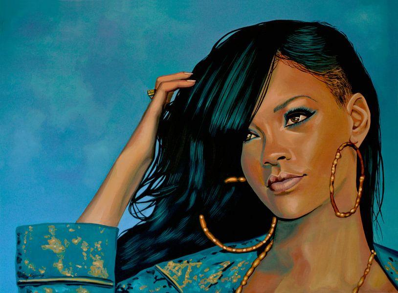 Rihanna Schilderij van Paul Meijering