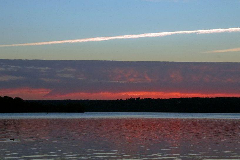Zonsondergang a la Rothko van Margo Schoote