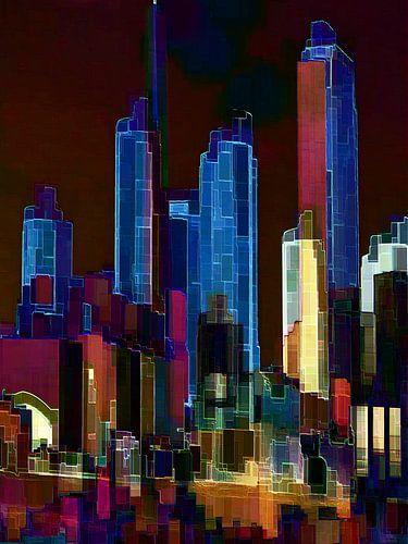 35. City-art, Abstract, stad O. van Alies werk