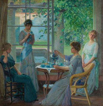 Robert Vonnoh-Portrait von Ellen Axson Wilson und ihren drei Töchtern