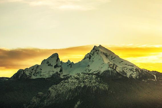 Watzmann bij zonsondergang