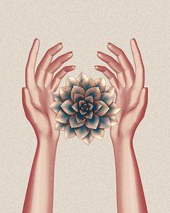 rosegoldene Hände und saftig