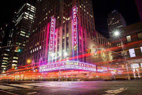 Radio City at night, New York city