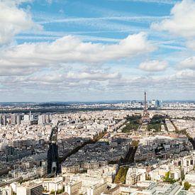 Parijs uitzicht over de stad - panorama van Marianne van der Zee