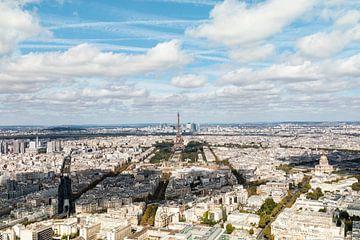Pariser Blick über die Stadt - Panoramafoto von Marianne van der Zee
