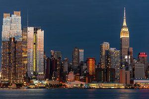 New York blauw uur