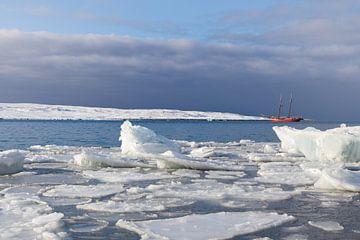 IJsschotsen op Spitsbergen van