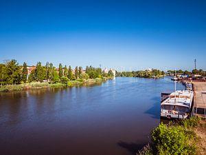 Landschappelijk uitzicht op de rivier de Saale in Saksen-Anhalt van Animaflora PicsStock