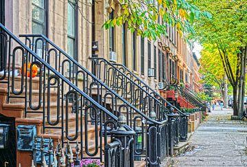Brooklyn Brownstone Houses van Tineke Visscher