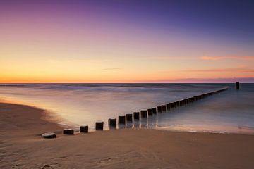 Strand im Sonnenuntergang von Frank Herrmann