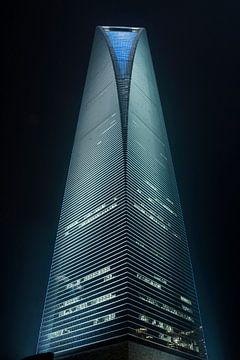 World Financial Cente Wolkenkratzer in Pudong District Shanghai 2 von Tony Vingerhoets