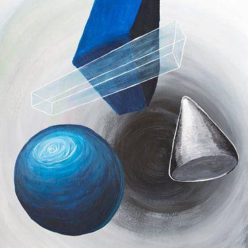 abstrait | cône cercle barre sur Vera Zuur
