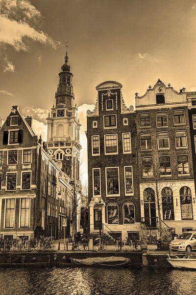 Zuiderkerk Amsterdam Nederland Sepia van Hendrik-Jan Kornelis