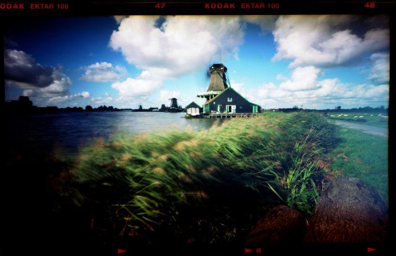 Pinhole foto Hollandse molens van Roelof Foppen