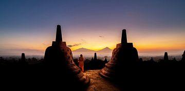 Borobudur Sonnenaufgang von Lex Scholten