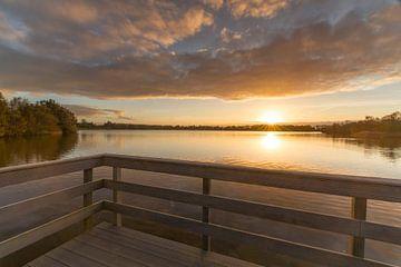 Steg bei Sonnenuntergang von Marcel Kerdijk