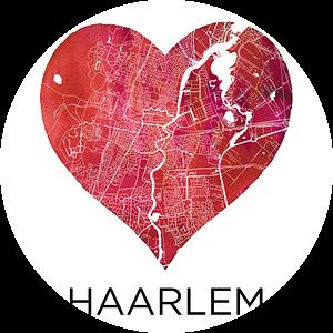 Liefde voor Haarlem  |  Stadskaart in een hart van Wereldkaarten.Shop