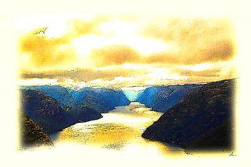 Fjord in Norwegen von Dirk H. Wendt