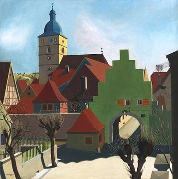 Dorfeingang in Unterfranken, Carl Grossberg, 1926