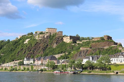 Koblenz mit Festung Ehrenbreitstein von
