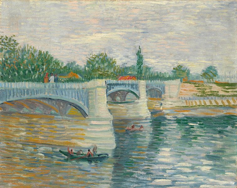 Vincent van Gogh, De brug bij Courbevoie van 1000 Schilderijen