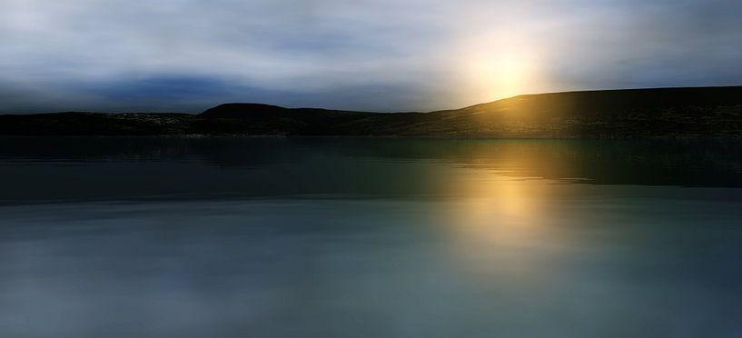 Coucher de soleil dans les montagnes 6 van Angel Estevez