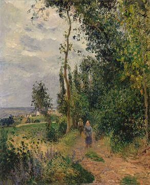 Côte des Grouettes, près de Pontoise, Camille Pissarro sur