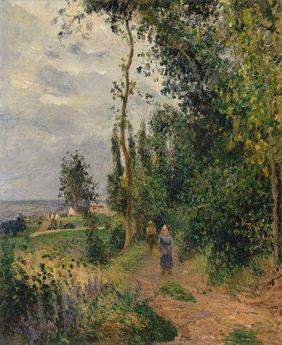 Côte des Grouettes, dichtbij Pontoise, Camille Pissarro van Meesterlijcke Meesters