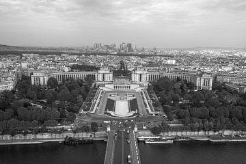 Het uitzicht op Palais de Chaillot in Parijs van