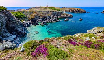 Magnifique vue de la Pointe de Poulain sur Belle Ile, en Bretagne.