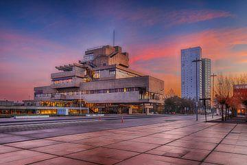 Terneuzen - Rathaus - Sonnenaufgang von Pixelatestudio Fotografie