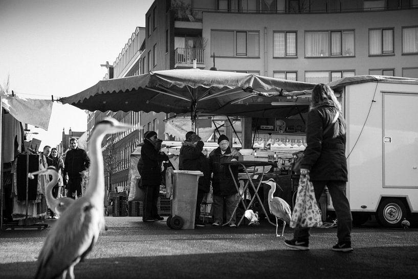 Dappermarkt Zwart-Wit van PIX URBAN PHOTOGRAPHY