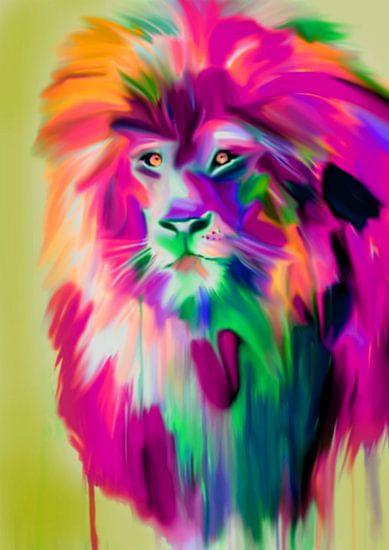 Lion Colourful van Felix von Altersheim