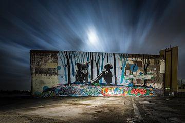 Graffiti muur in Nijmegen von Jeffrey Van Zandbeek