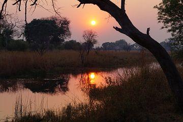 Zonsondergang in niemandsland van Erna Haarsma-Hoogterp