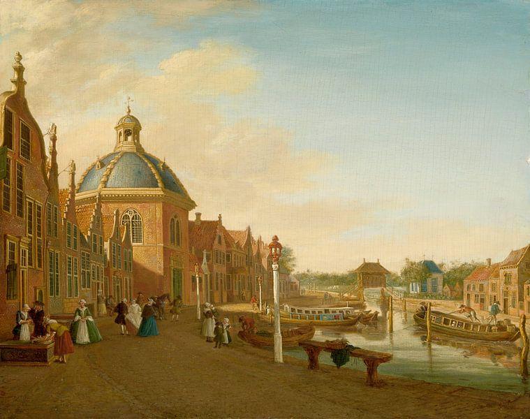 Das Anlegebecken im Barge-Kanal in Leidschendam, Paulus Constantijn la Fargue von Meesterlijcke Meesters