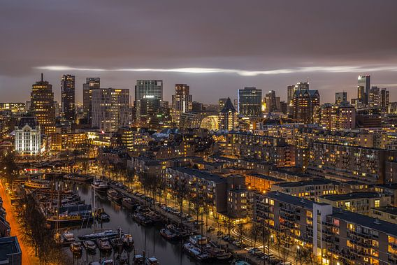 Het stadscentrum van Rotterdam van MS Fotografie