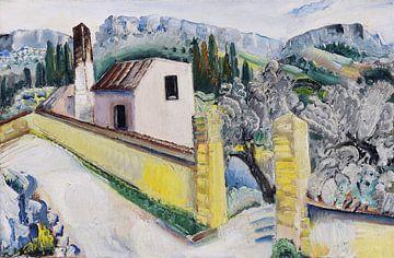 Landschap bij Cassis, Paul Kleinschmidt,  1931 van Atelier Liesjes