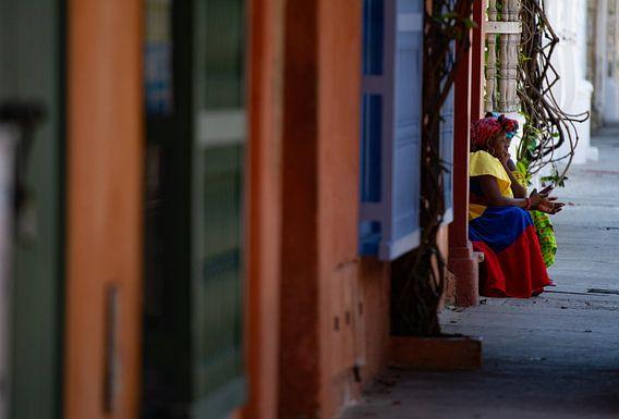 Vrouw in Cartagena