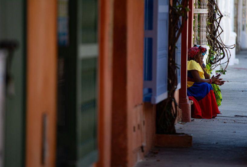 Vrouw in Cartagena van Ronne Vinkx