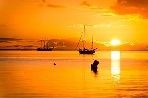 sunrise waddenzee vlieland van hein van houten