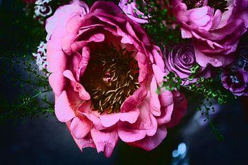 Blumenstrauß in sommerlichen Farben